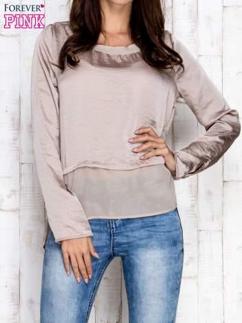 Beżowa warstwowa bluzka oversize