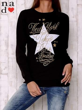 Czarna bluza z motywem gwiazdek