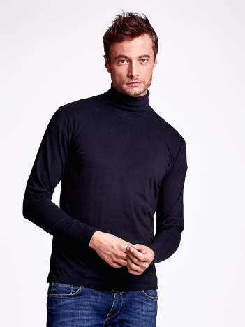 Czarna bluzka męska z golfem