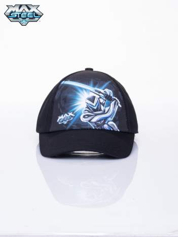 Czarna chłopięca czapka z daszkiem MAX STEEL