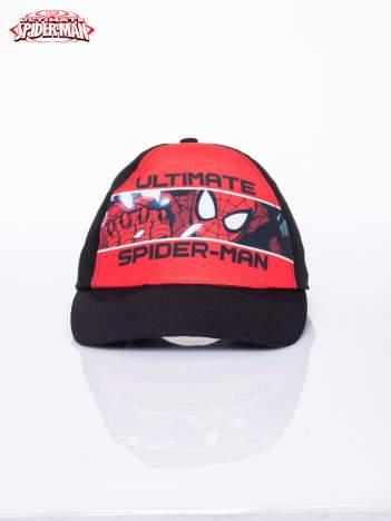 Czarna chłopięca czapka z daszkiem SPIDERMAN