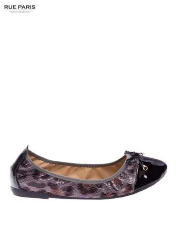 Czarne baleriny loafers z lakierowanym noskiem