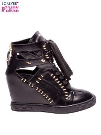 Czarne sneakersy ze złotymi elementami w stylu Isabel Marant