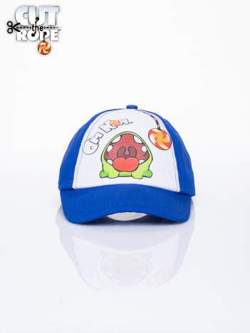 Niebieska chłopięca czapka z daszkiem CUT THE ROPE