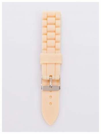 Pasek silikonowy do zegarka 20 mm - beżowy