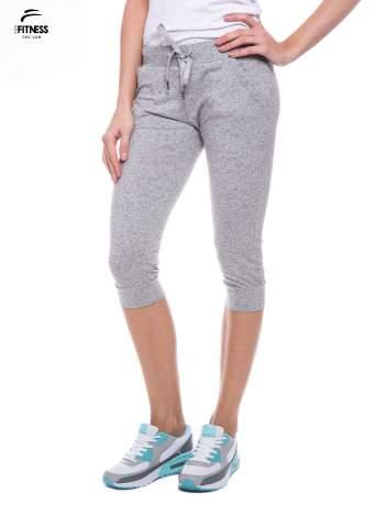 Szare sportowe spodnie za kolano