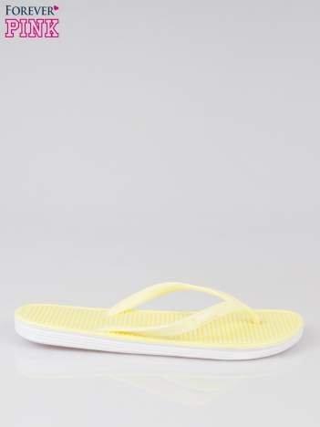 Żółte lekkie japonki plażowe
