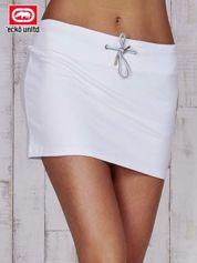 Biała spódnica ze złotym nadrukiem