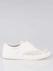 Białe buty sportowe z szarym wykończeniem