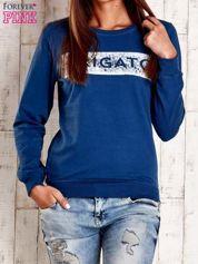 Ciemnoniebieska bluza z napisem ARIGATO