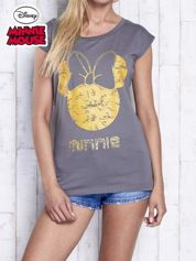 Ciemnoszary t-shirt MINNIE MOUSE