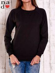 Czarna gładka bluza