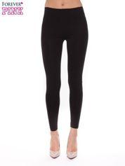 Czarne bawełniane legginsy