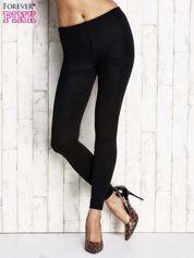 Czarne ocieplane legginsy