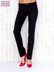 Czarne spodnie jeansowe ze stretchem