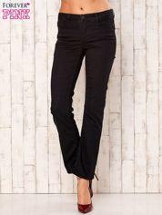 Czarne spodnie regular z napami
