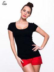 Fitness Czarny prosty t-shirt For Fitness