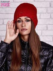 Butik Czerwona czapka z dżetami kryształkami