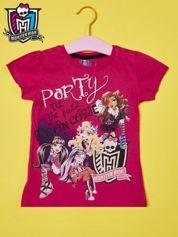 Fuksjowy t-shirt dla dziewczynki MONSTER HIGH