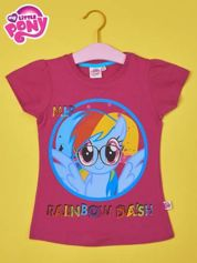 Fuksjowy t-shirt dla dziewczynki  motywem bajki MY LITTLE PONY