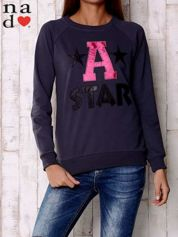 Grafitowa bluza z napisem A STAR
