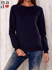 Granatowa gładka bluza