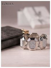 LOLITA Przepiękna srebrna bransoletka CLASSIC