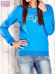 Niebieska bluza z napisem CITY GIRL