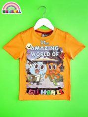 Pomarańczowy t-shirt chłopięcy GUMBALL