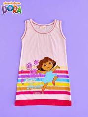 Różowa sukienka dla dziewczynki DORA POZNAJE ŚWIAT