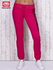 Różowe spodnie dresowe z cekinami