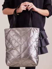 Srebrna pikowana torba
