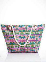 Szara torba plażowa w azteckie wzory