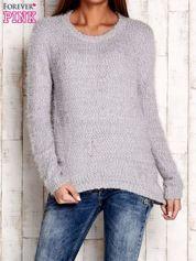 Szary sweter long hair z kokardkami