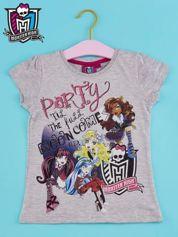 Szary t-shirt dla dziewczynki MONSTER HIGH