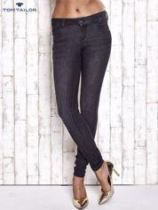 TOM TAILOR Czarne spodnie jeansowe ze stretchem