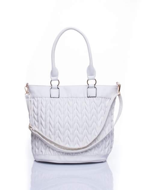 Biała pikowana torba na ramię