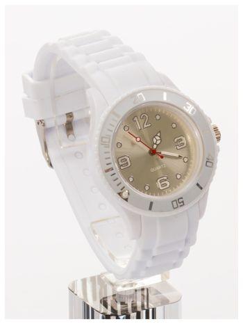 Biały zegarek damski na silikonowym pasku