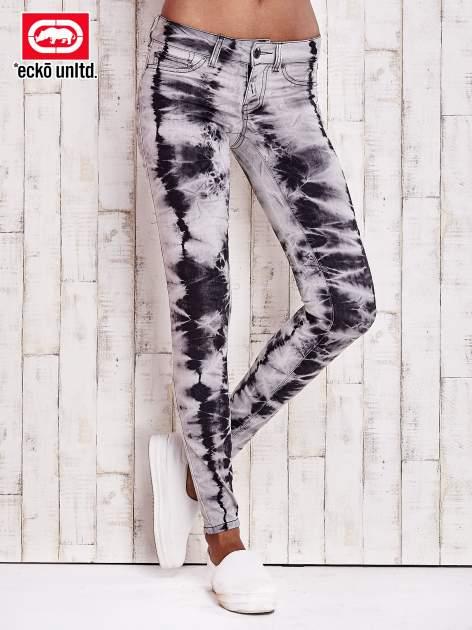 Ciemnoszare spodnie z efektem dekatyzowania