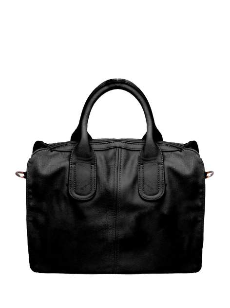 Czarna torba miejska z odpinanym paskiem
