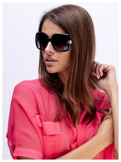 Czarne eleganckie okulary przeciwsłoneczne w stylu Vintage
