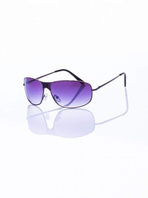 Czarne okulary przeciwsłoneczne typu unisex