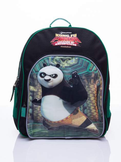 Czarny plecak szkolny DISNEY Kung Fu Panda