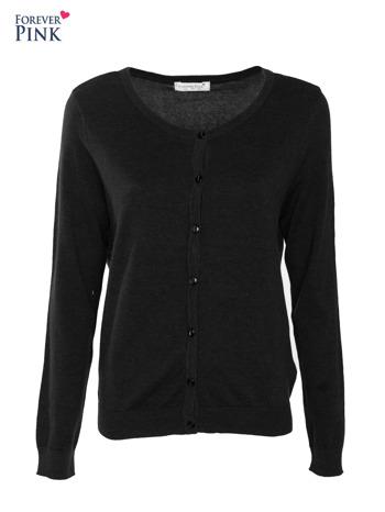 Czarny rozpinany sweter z bawełny