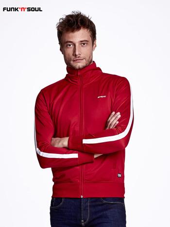 Czerwona bluza męska ze stójką FUNK N SOUL