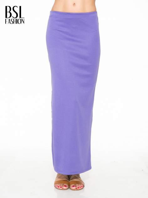Fioletowa maxi spódnica z rozcięciem z boku