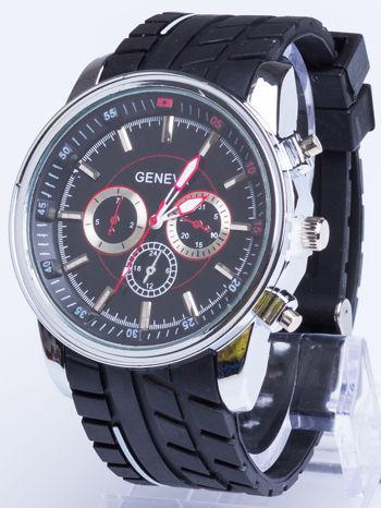 GENEVA Czarny zegarek męski MILITARY