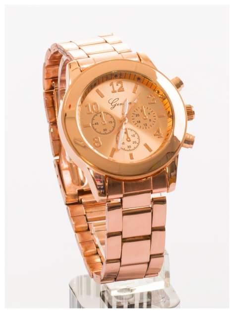 GENEVA Zegarek damski na bransolecie w kolorze różowego złota