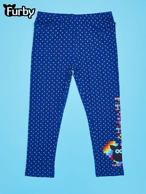 Granatowe legginsy dla dziewczynki FURBY
