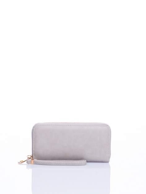 Jasnobeżowy portfel z rączką